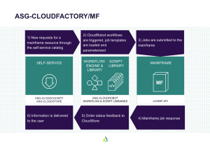 Cloudfactory Mainframe work flow