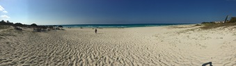 Panoramic view of Varadero beach at Barcelo Solymar Hotel