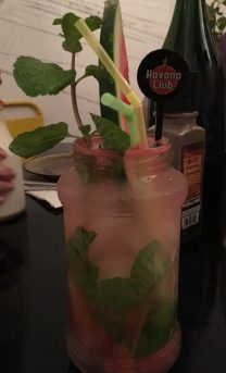 Watermelon mojito at El Del Fuente restaurant.